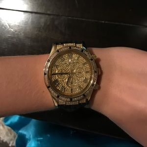 Michael Kors Black and Gold Watch (2310)